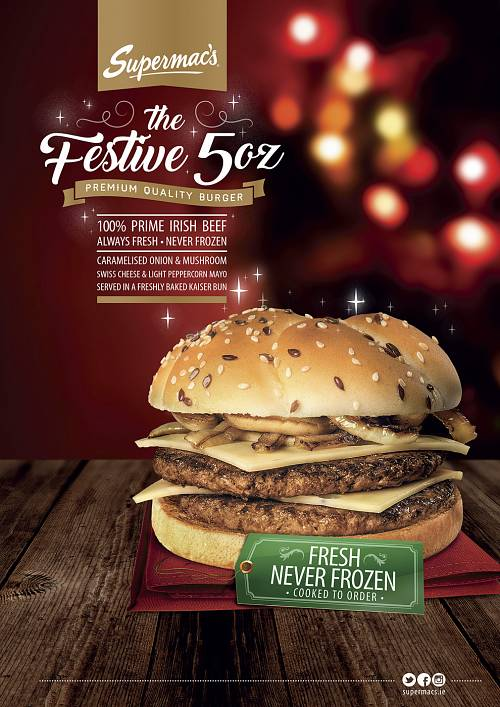Festive Burger @ Supermacs © David Cantwell Photography