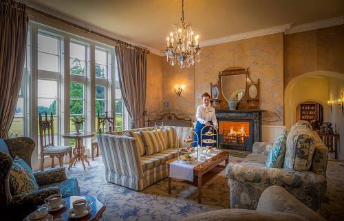 The Blue Room Drawing Room @ Lough Rynn Hotel © David Cantwell Photography