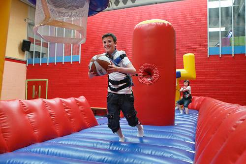 Boys Playing on Inflatable Basketball Arena @ The Quality Hotel © David Cantwell Photography