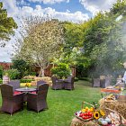 Summer Barbeque in Hotel Garden  - Seasonal Commercial Photography © David Cantwell Photography