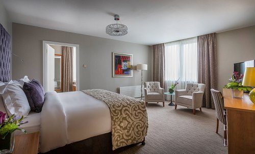 Suite Bedroom - Staged not Styled @ Radisson Blu Hotel Dublin Airport Hotel Photographer © David Cantwell Photography