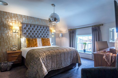 Double Bedroom Staged for Leisure Couple @ The Fleet Street Hotel Hotel Photographer © David Cantwell Photography