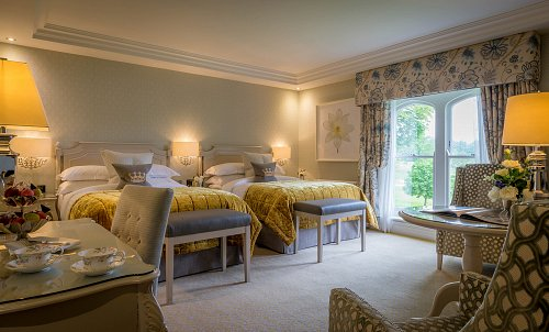Twin Bedroom - Styled for Leisure Couple @ Dromoland Castle Hotel Hotel Photographer © David Cantwell Photography