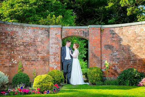 Bride @ Groom in the Walled Garden @ Portmarnock Hotel © David Cantwell Photography