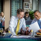 Corporates Having a Business Lunch - Corporate Hotel Lifestyle Photography © David Cantwell Photography