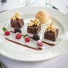 Chocolate Brownies with Caramalised Popcorn - Food Photography © David Cantwell Photography