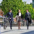 Corporates Walking, Business Man With Bike - Corporate Photographer © David Cantwell Photography
