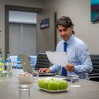 Corporate Business Man at Table in Boardroom Meeting Room - Corporate Photographer  © David Cantwell Photography