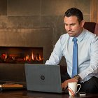 Business Man with Laptop - Corporate Photographer  © David Cantwell Photography