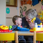 Creche Staff Member with Toddler © David Cantwell Photography