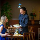 Waitress Serving Food - Food Lifestyle Photography © David Cantwell Photography