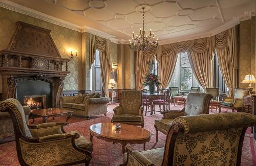 The Green Drawing Room @ Kilronan Castle Hotel © David Cantwell Photography