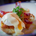 Poached Egg & Side Back Bacon - Food Photography © David Cantwell Photography