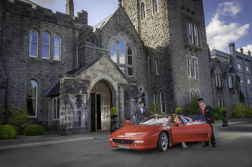 Hotel Porter Meeting Couple Arriving @ Kilronan Castle hotel © David Cantwell Photography