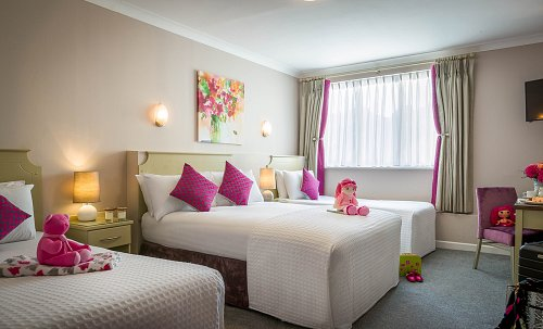 Twin Bedroom - Styled for Family Bedroom @ Springhill Court Hotel Hotel Photographer © David Cantwell Photography