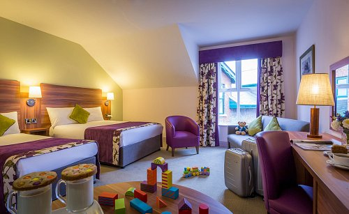 Twin Bedroom Maldron Hotel Oranmore - Styled for Family Bedroom Hotel Photographer © David Cantwell Photography