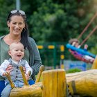 Mum & Son in Playground for Dalata Brand - Lifestyle Photography © David Cantwell Photography