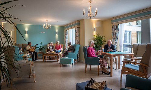 Beechfield Nursing Home Lounge © David Cantwell Photography