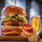Bacon Cheese Burger @ Clever East Restaurant - Food Photography © David Cantwell Photography