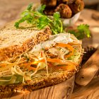 Apple & Carrot Slaw Sandwich  - Food Photography © David Cantwell Photography