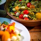 Pasta, Cherry Tomatoes and Olives Salad - Food Photography © David Cantwell Photography