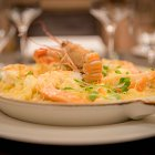 Prawns With Pasta in a Pan - Seafood Food Photography © David Cantwell Photography