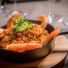 Panfried Prawns with Cous Cous - Seafood Food Photography © David Cantwell Photography