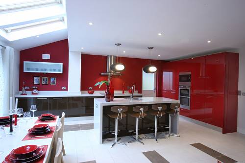 Fuego & Chocolate Kitchen @ Nolan Kitchens - Interiors Photographer © David Cantwell Photography
