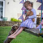 Girl on a Swing with Bunting @ Summer - Seasonal Commercial Photography © David Cantwell Photography