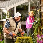 Elderly Couple in Garden - Lifestyle Photography © David Cantwell Photography