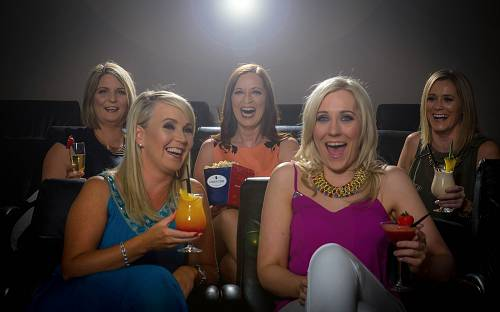 Hen Party Girls in the Cinema @ The Lyrath Hotel - Hotel Lifestyle Photographer © David Cantwell Photography