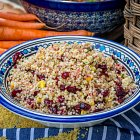 Grains Salad WithSweetcorn & Cranberries - Food Photography © David Cantwell Photography