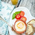 Ham & Egg Cups Breakfast - Food Photography © David Cantwell Photography