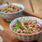 Ham & Pea Quinoa Salad Lunch  - Food Photography © David Cantwell Photography