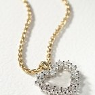 Diamond Heart Pendant on gold Chain  - Studio Photography © David Cantwell Photography