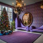 Christmas Tree in Hotel Lobby  - Seasonal Commercial Photography © David Cantwell Photography