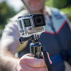 Cyclist Holding Jivo Hero4 Camera - Product Photographer © David Cantwell Photography
