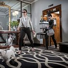 Lady with chauffeur in Lobby of Castletroy Park Hotel - Lifestyle Photography © David Cantwell Photography