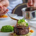 Steak and Pea Mash Meal - Food Photography © David Cantwell Photography