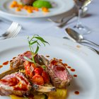 Lamb Chops Meal @ Dromoland Castle - Food Photography © David Cantwell Photography