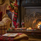 Christmas Mulled Wine by the Fire  - Seasonal Commercial Photography © David Cantwell Photography