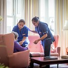 Nurses with Elderly Resident in a Nursing Home © David Cantwell Photography