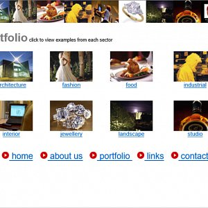 Our 1st Commercial Photography Website Portfolio Page