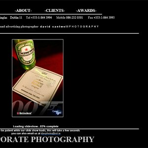 Our 2nd Commercial Photography Website - Commercial Photography Page With Image Slideshow
