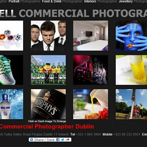 Our 3rd Commercial Photography Website - Commercial Photography Page