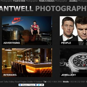 Our 3rd Commercial Photography Website - Home Page