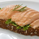 Salmon and Home Made Brown Bread Lunch  - Food Photography © David Cantwell Photography