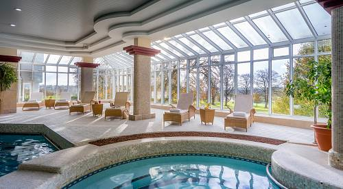 Pool Lounger Deck @ Slieve Russell Hotel Swimming Pool  © David Cantwell Photography