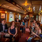 Pre Dinner Drinks ina Train Carraige - Food Lifestyle Photography © David Cantwell Photography