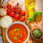 Tomato & Basil Soup - Food Photography © David Cantwell Photography